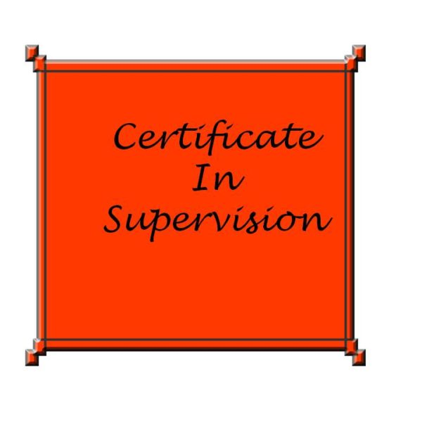 Certificate in Supervision